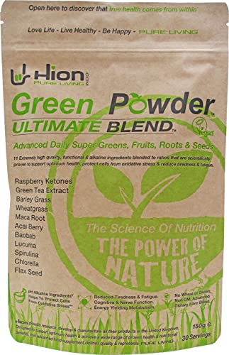 Green Powder – ULTIMATE BLEND. Vegan, alkaline & gluten-free Super Greens. Produced in the UK using only the highest-quality ingredients ✸ The UK's Premium Ultra-Pure Super Food Powder.