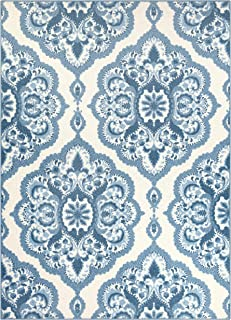 product image for Maples Rugs Vivian Medallion Area Rugs for Living Room & Bedroom [Made in USA], 7 x 10, Blue