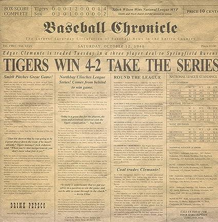 Amazon Baseball Chronicle 12 X 12 Scrapbook Paper 1 Sheet