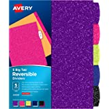 Avery Big Tab Reversible Fashion Dividers, Assorted Colors, 5-Tab Set (24928)