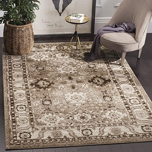 Safavieh Vintage Hamadan Collection VTH214T Oriental Antiqued Taupe Area Rug 8' x 10'