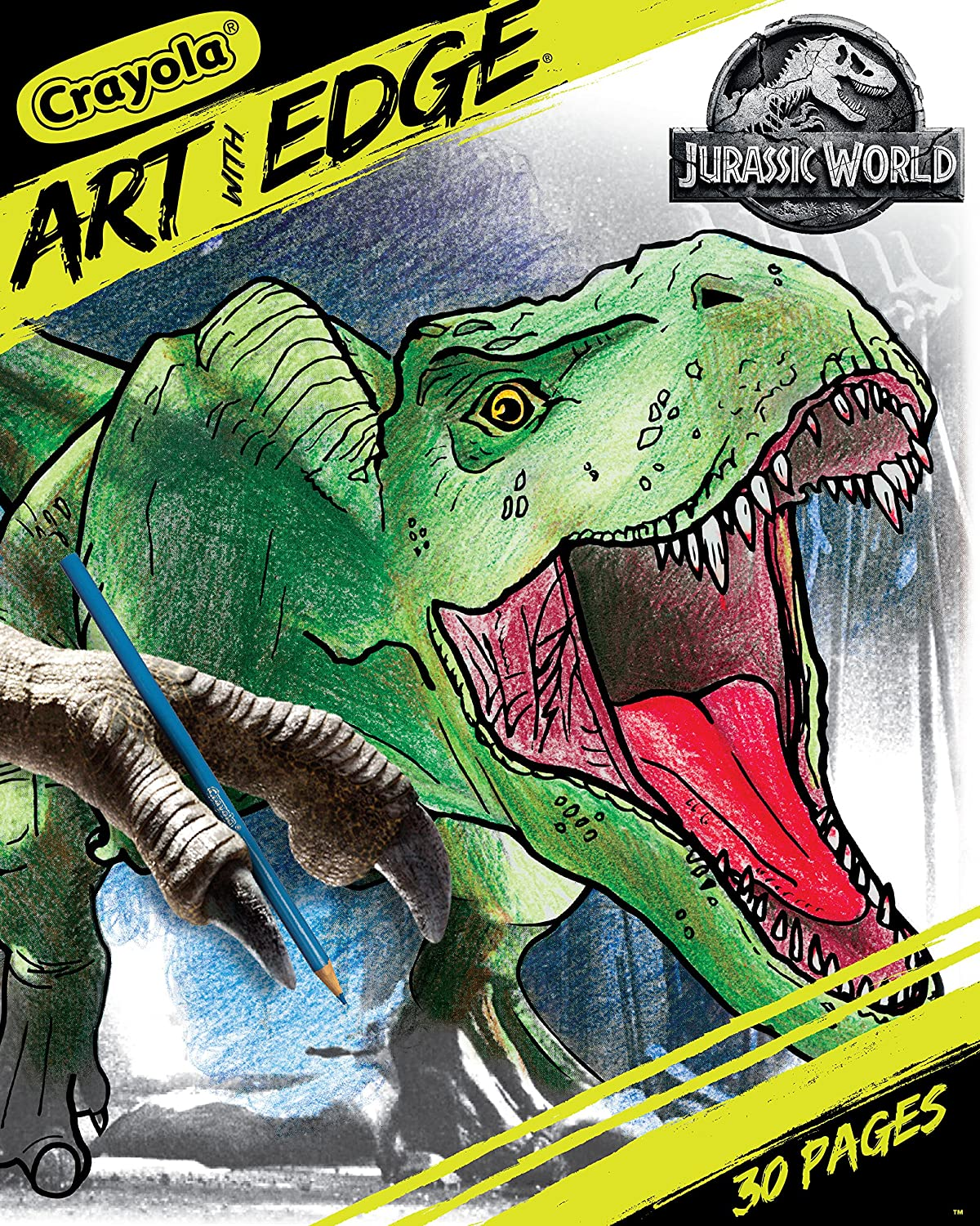 Crayola Art With Edge Jurassic World Coloring Book Gift For Teens 30 Coloring Pages