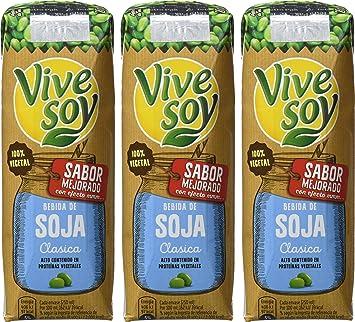 Vivesoy Bebida de Soja - Paquete de 3 x 250 ml - Total: 750 ml: Amazon.es: Amazon Pantry