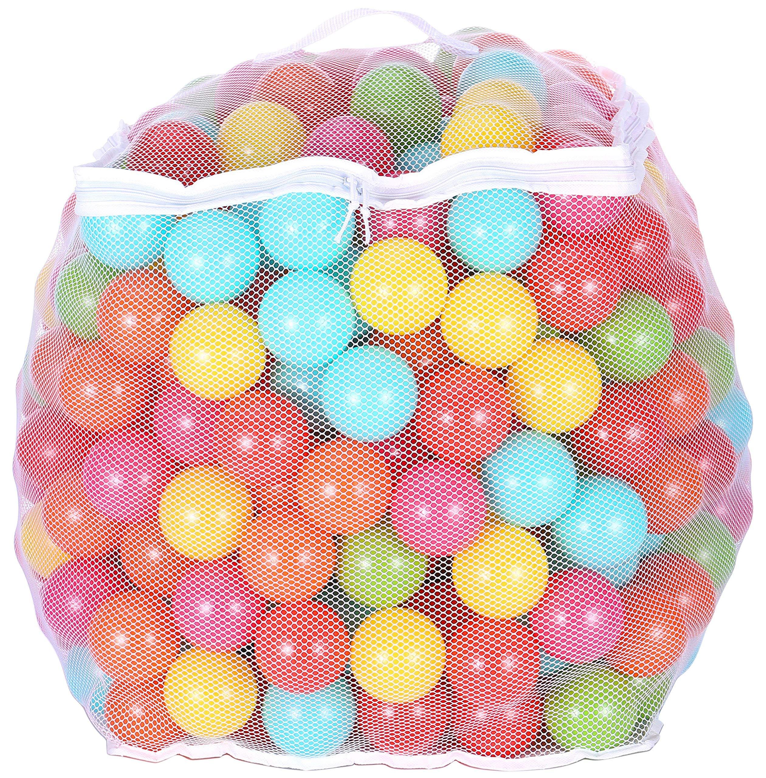 50 pcs Coloured Play Balls Phthalate Free BPA Free Crush Proof Plastic Ball Air-Filled Ocean Ball Pit Balls Reusable Fun Play Balls for Kids