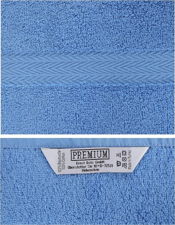 BETZ 10 pièces laver Gants Taille 16x21 cm 100/% Coton Premium Bleu Clair