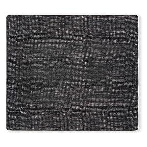 modern-twist Linen Print Placemat 100% plastic free silicone, waterproof, adjustable, dishwasher safe, Rectangle, Black