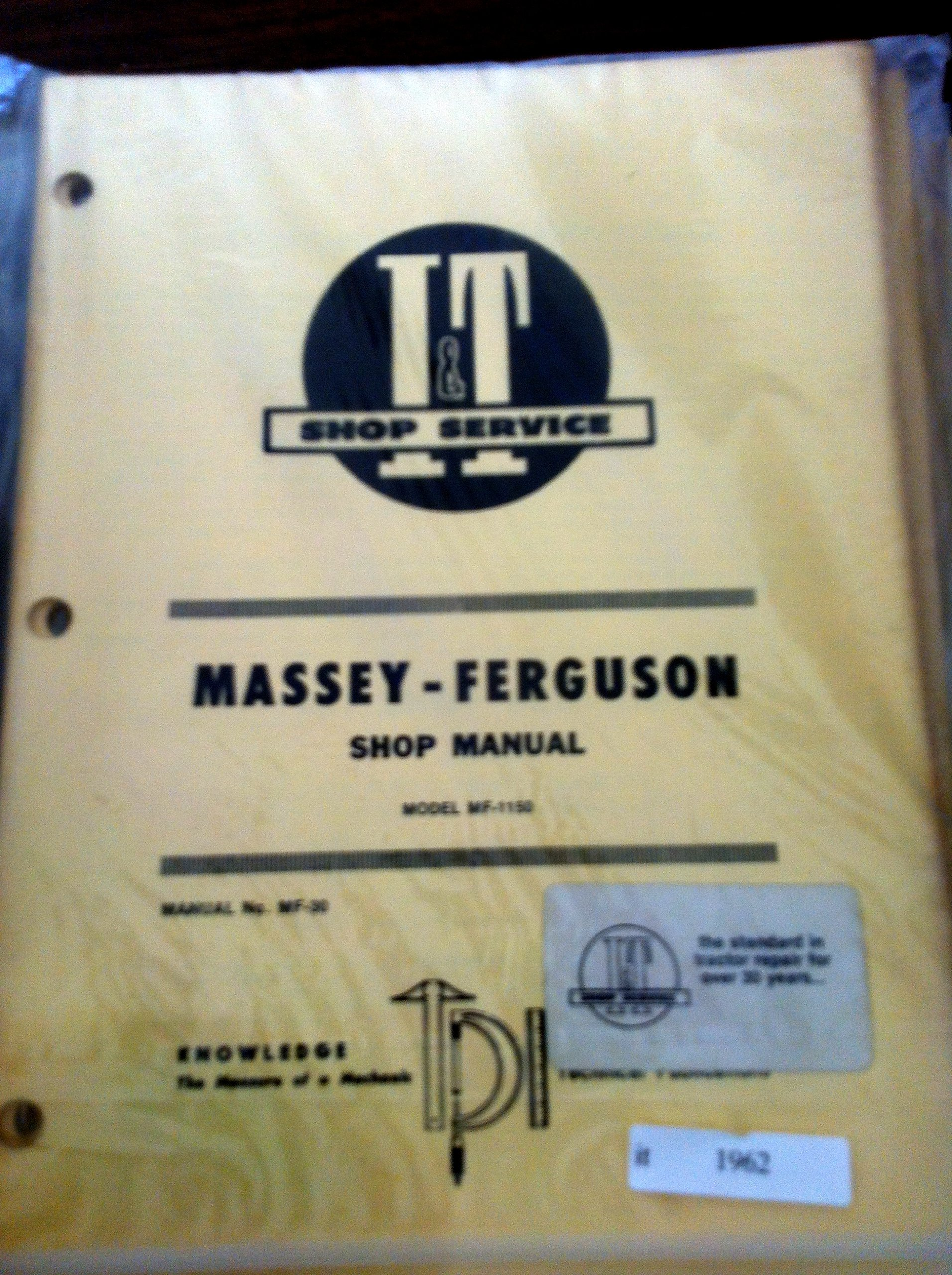 Massey Ferguson I&T Shop Service Manual MF 1150: Amazon.com: Books