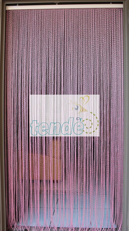 Rideau//Moustiquaire en PVC 90X200, AMBRA N.8 mod/èle Roma Mesures Standard - Made in Italy B/âtonnet DALUMINIUM