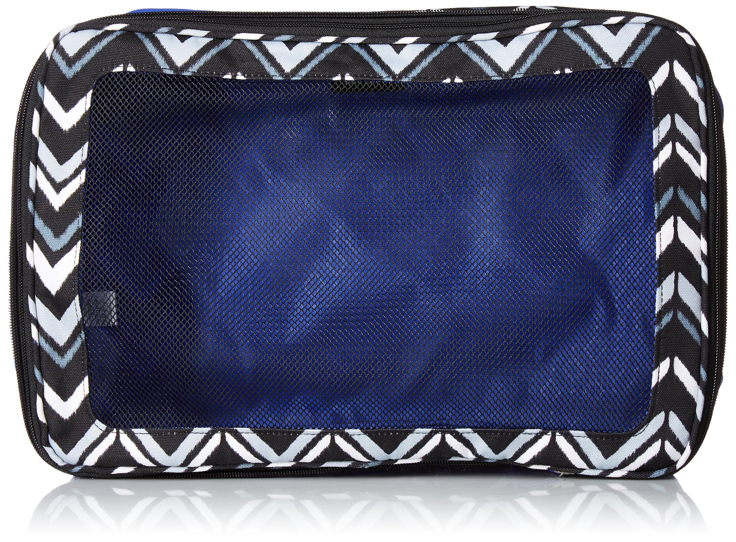Vera Bradley Lighten up Large Expandable Packing Cube, Polyester, Lotus Chevron