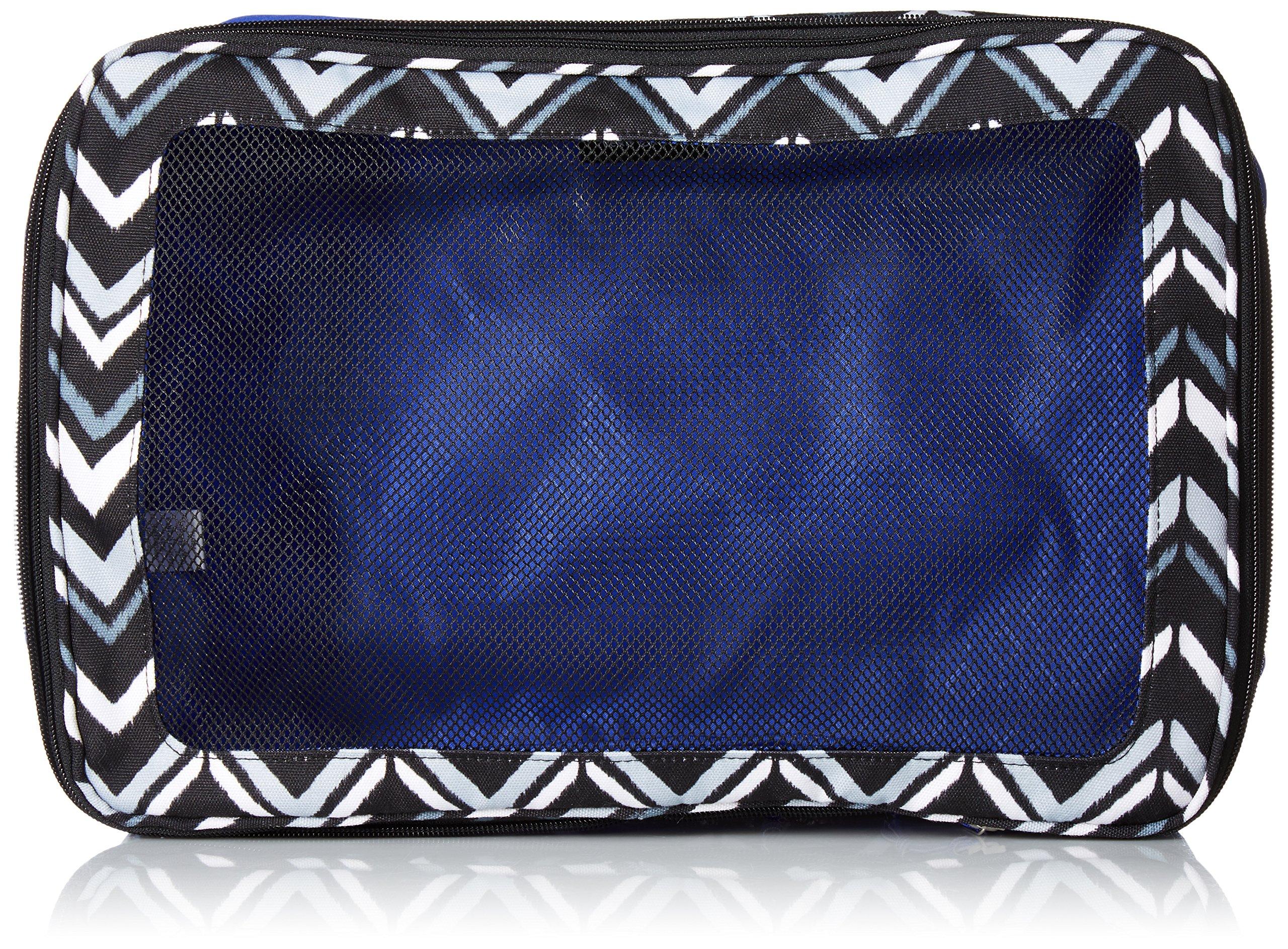 Vera Bradley Lighten Up Large Expandable Packing Cube, Polyester, Lotus Chevron