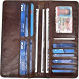 Yeeasy Men's Vintage Genuine Leather Long Wallets Bifold Wallet For Men