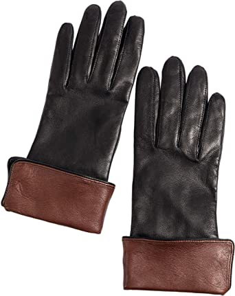 9ddcc61414613 Women's Sumac Silk-Lined Lambskin Leather Gloves at Amazon Women's Clothing  store: