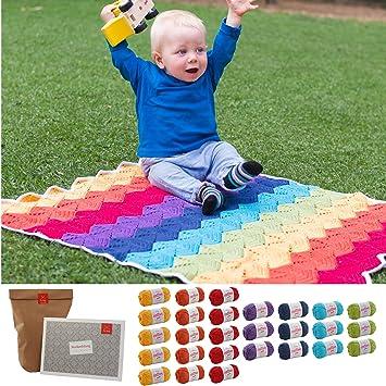Babydecke Häkeln Häkelset Baby Decke Kunterbunt Baby Diy Mit 27