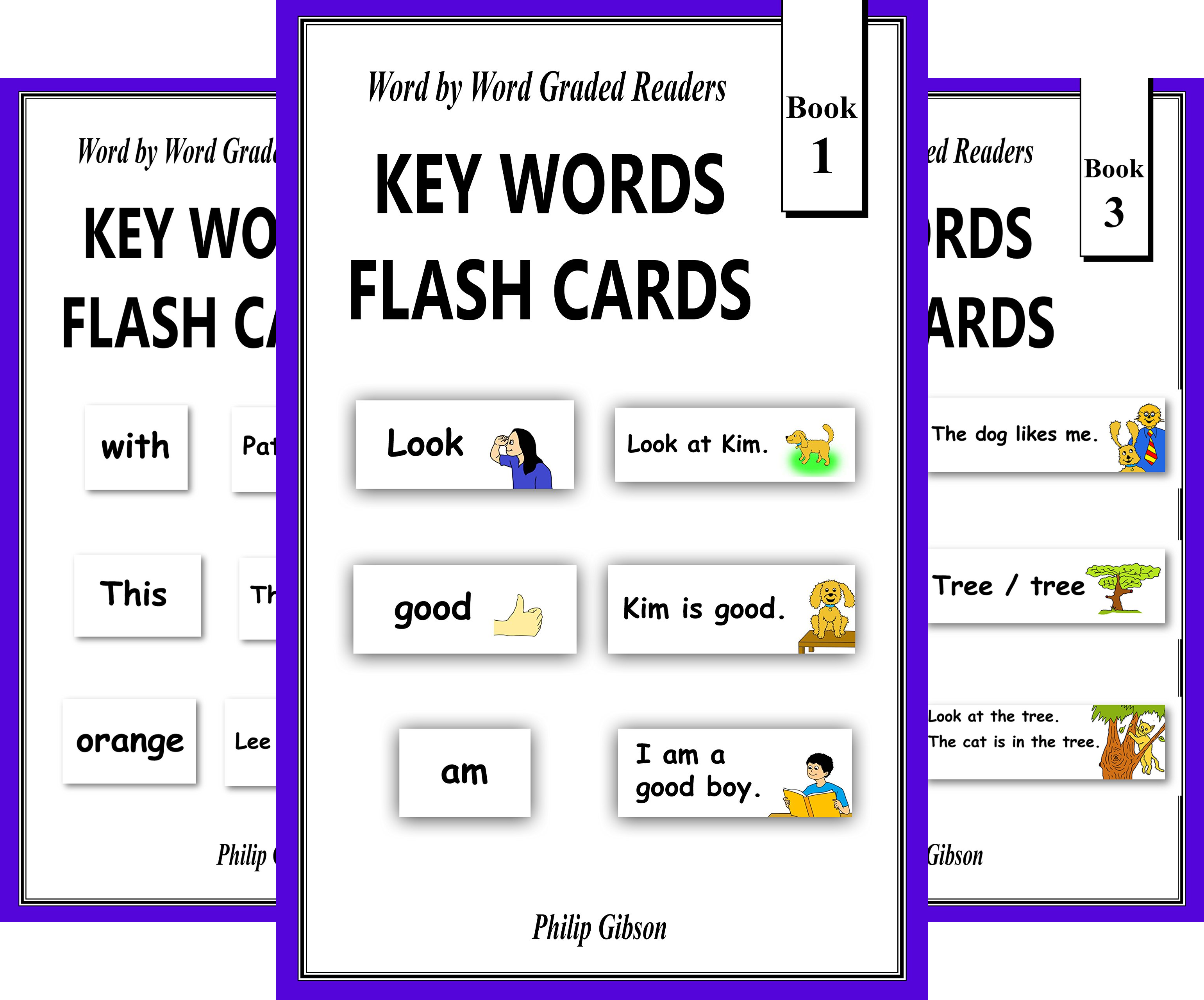 KEY WORDS FLASH CARDS (6 Book Series)
