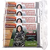 Grizzly Gear Emergency Thermal Blankets- NASA Mylar Waterproof Heat Retaining Survival Blankets- For Hiking, Camping, Car and More