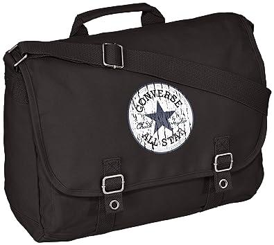 08925da03416 Converse Umhängetasche Vintage Patch Canvas Flapbag 15.9 Liter Schwarz ( Black) 98306B-62