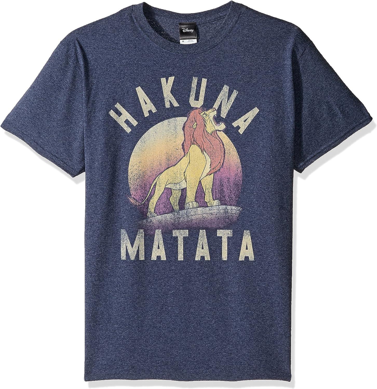 Disney Mens Lion King Simba Warrior Roar Graphic Tee Shirt