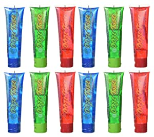 Set of 12 Kidsmania 4oz Ooze Tubes! Oozing Delicious Flavors - Blue Raspberry, Cherry, Green Apple! (12)