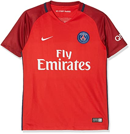 0d9603f2b Nike Kid s Paris Saint Germain 2016 2017 Away Soccer Jersey (Medium) Red