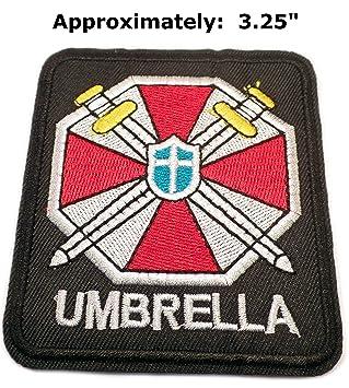 """Paraguas Resident Evil 3,25"""" Logo Zombie Tema bordado coser o planchar parche apliques"""