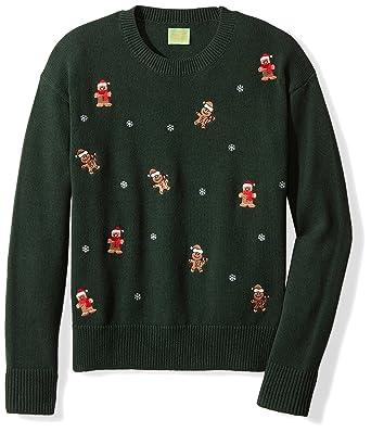 Amazon.com: Ugly Fair Isle Unisex Embroidered Gingerbread Santas ...