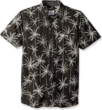 Rip Curl Hombre Manga Corta Camisa de Botones - Negro - X-Large: Amazon.es: Ropa y accesorios