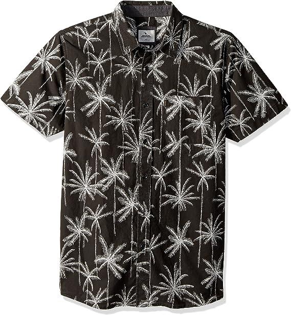 Rip Curl Hombre Manga Corta Camisa de Botones - Negro - X-Large ...