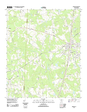 Denmark Topographic Map.Amazon Com Topographic Map Poster Denmark Sc Tnm Geopdf 7 5x7 5