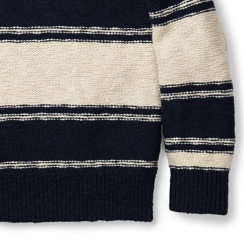 Hope /& Henry Boys Chunky Striped Crew Sweater