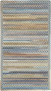 """product image for Capel Rugs Kill Devil Hill Cross Sewn Rectangle Braided Area Rug, 5 x 5"""", Light Blue"""