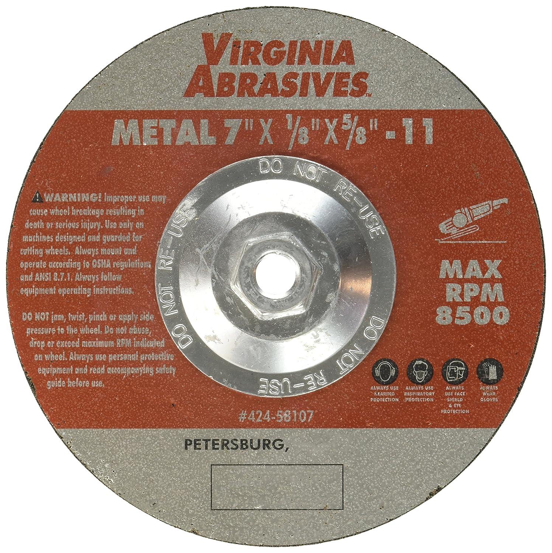 VIRGINIA ABRASIVES 424-58107 7x1//8x5//8 Grind Wheel Standard Plumbing Supply