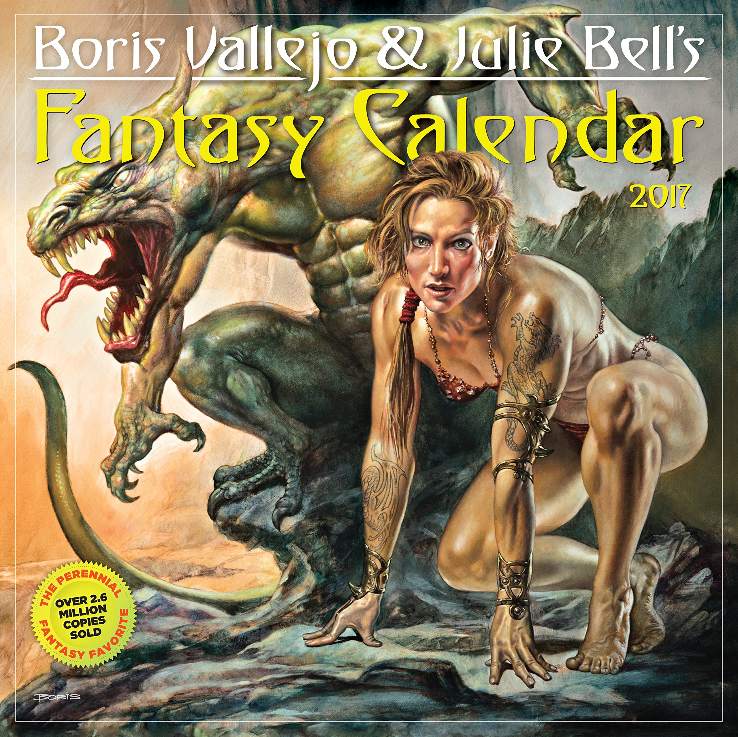 Boris Vallejo & Julie Bell's Fantasy Wall Calendar 2017 by Workman Publishing Company