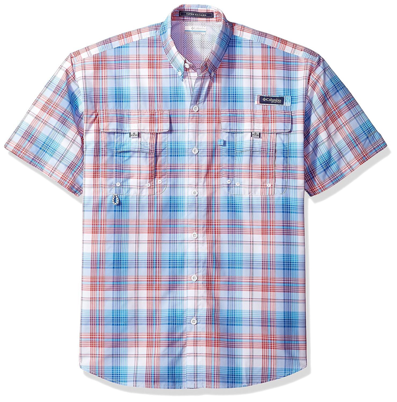 Columbia Mens PFG Super Bahama Short Sleeve Shirt Breathable UV Protection