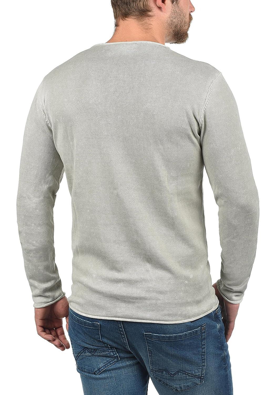61f0b8e92091 !Solid Kirisaku Herren Strickpullover Feinstrick Pullover Mit Rundhals Und  Used-Optik Aus 100 % Baumwolle