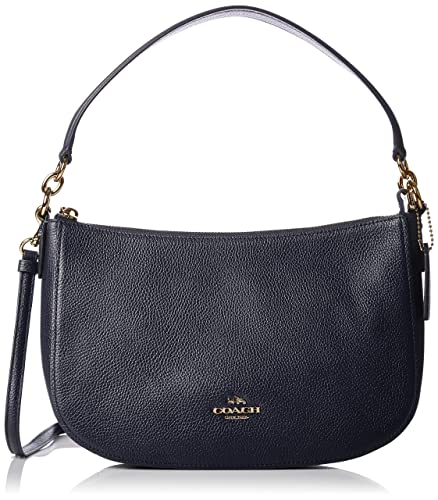 207d5d6d7f Shoulder Bags Coach Women Leather Blue and Gold 56819LINAV Blue 6.5x18x28  cm  Amazon.co.uk  Clothing