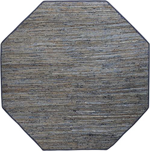 Earth First Blue Jeans 10 x10 Octagon Rug, 10×10 Octagon