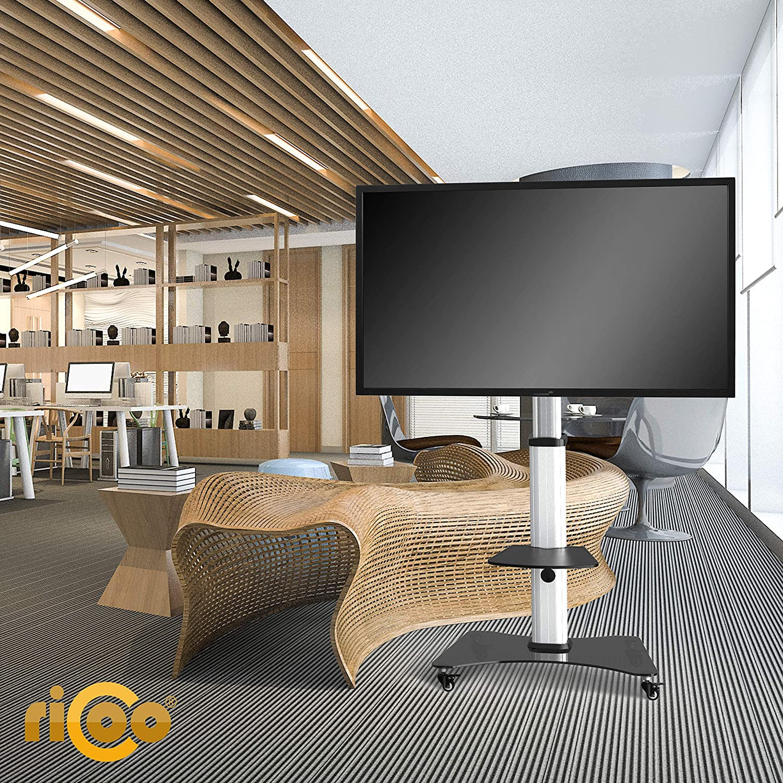 RICOO FS07XL Soporte TV con Ruedas Base pie Inclinable Televisión 40-75