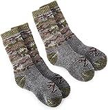 Browning Hosiery Unisex Child Camo Wool Blend Kids Sock, 2 Pair Pack