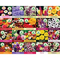 Only For Organic Twenty Winter Flower Seeds(4800+ Seeds) With Cocopeat Block And Instruction Manual
