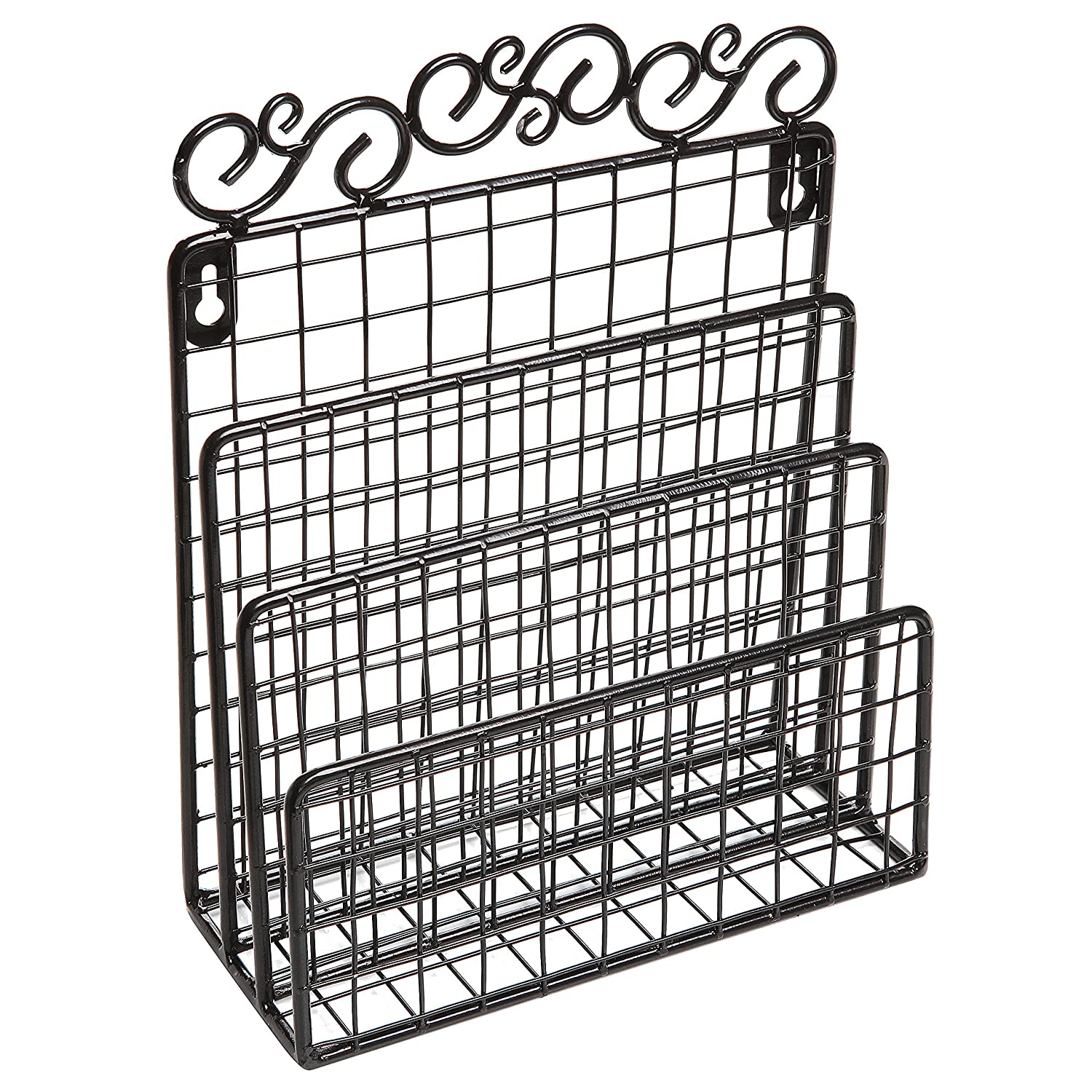 Amazon Decorative Scrollwork Design Black Metal Wire Wall