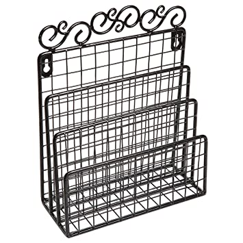 Amazon.com : Decorative Scrollwork Design Black Metal Wire Wall ...