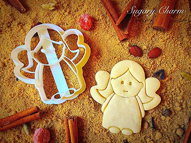Tiny Christmas Angel Cookie Cutter Unique Sugarbelle Presents For Holiday 3d Plastic Angel Cookie Molds Rolling Angel Biscuit Cookies Embossed