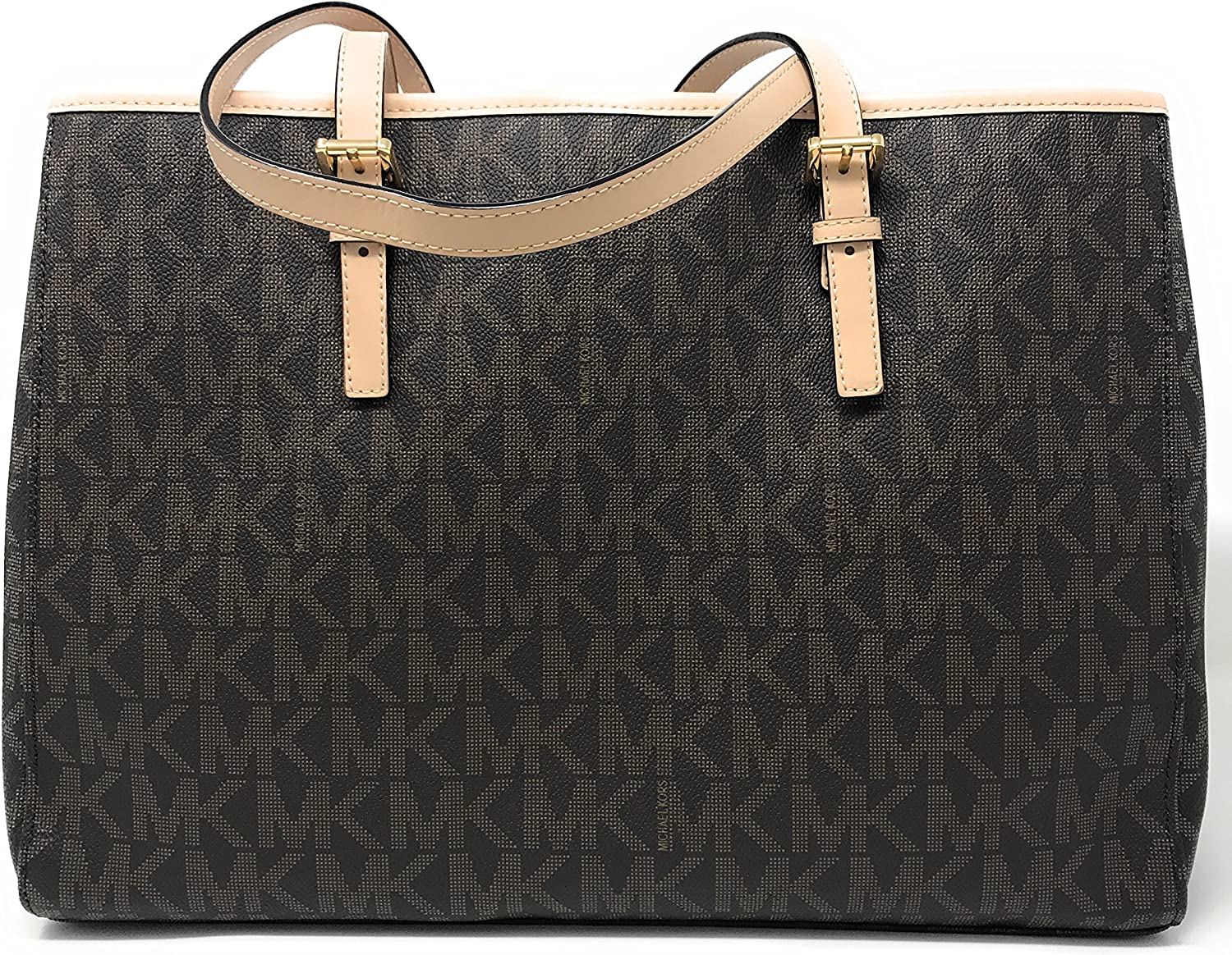 Michael Kors Jet Set PVCGenuine Leather EastWest Travel TOTE
