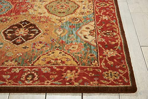 Nourison Living Treasures Round Area Rug Multicolor Rectangle 2 6 X 4 3