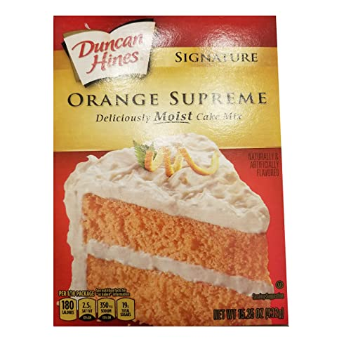 Duncan Hines Signature Orange Supreme Cake Mix 1525oz Pack Of 2