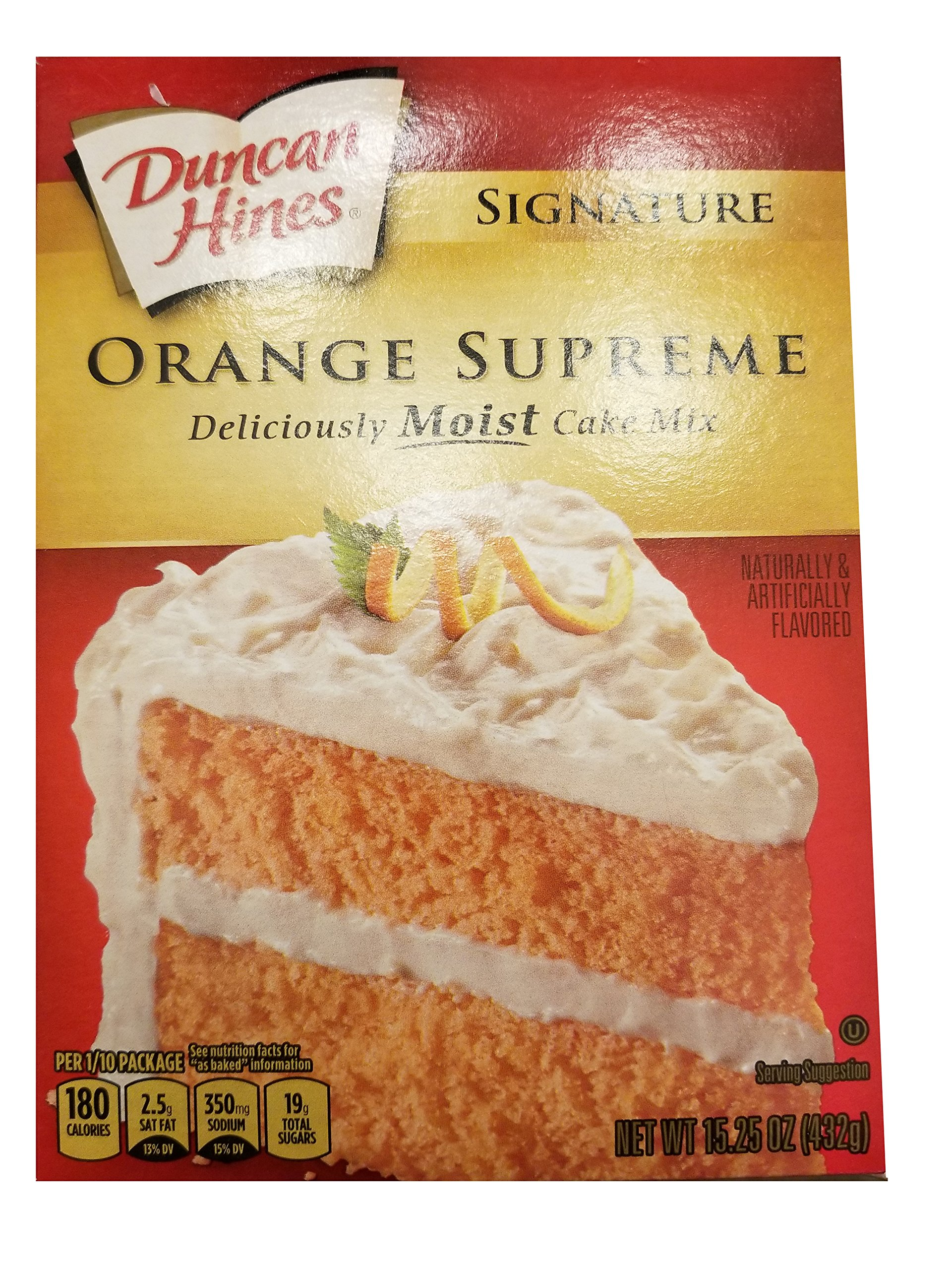 Amazon.com : Duncan Hines Cake Mix-Orange-16.5 Oz-2 Pack : Grocery ...