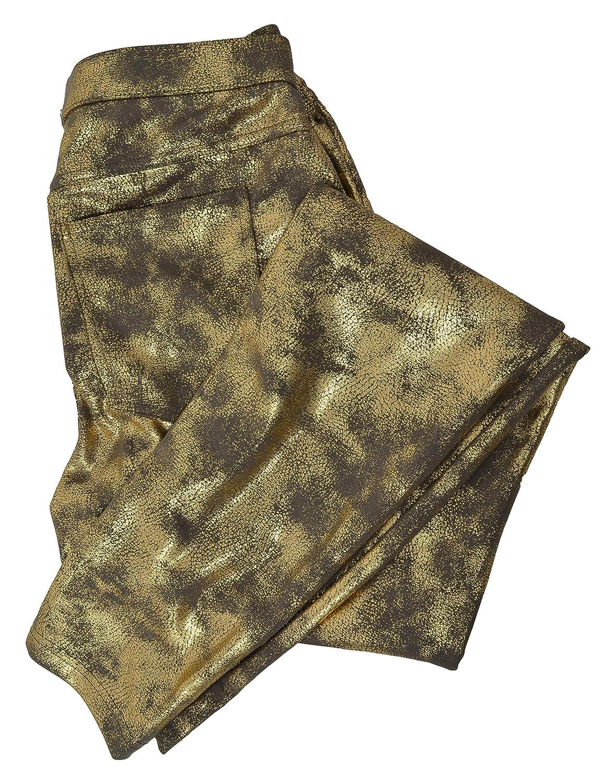 HUE Womens Distressed Metallic Leggings