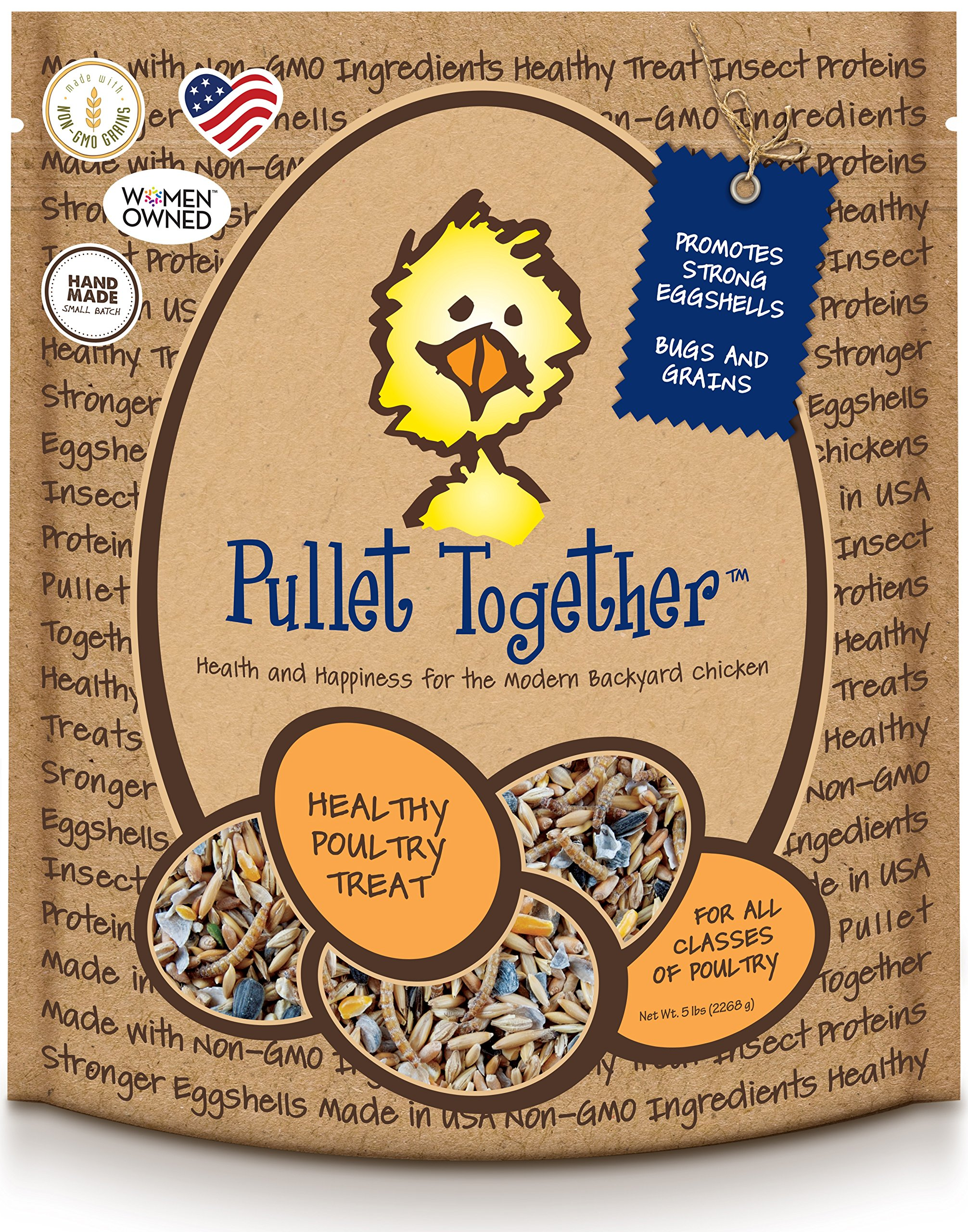 Treats For Chickens Pullet Together Treat, 5-Pound by Treats For Chickens