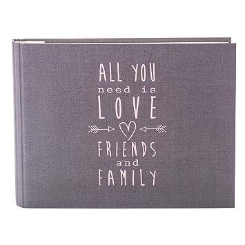 Gästebuch All You Need grau