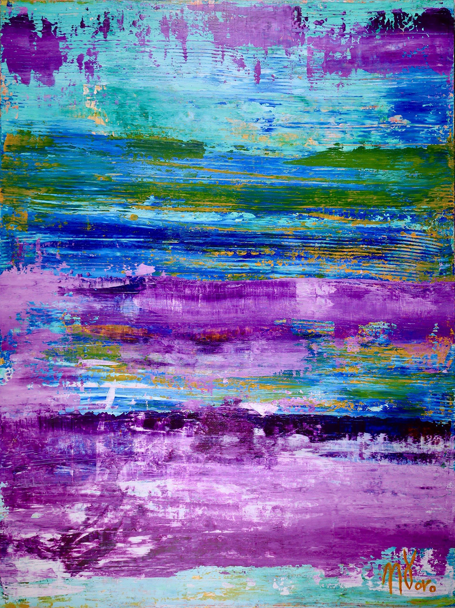 Frozen Turquoise (Purple Colorfield) (2016)